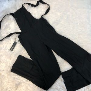 Diesel Black Gold Black Bib Overalls Women's Small